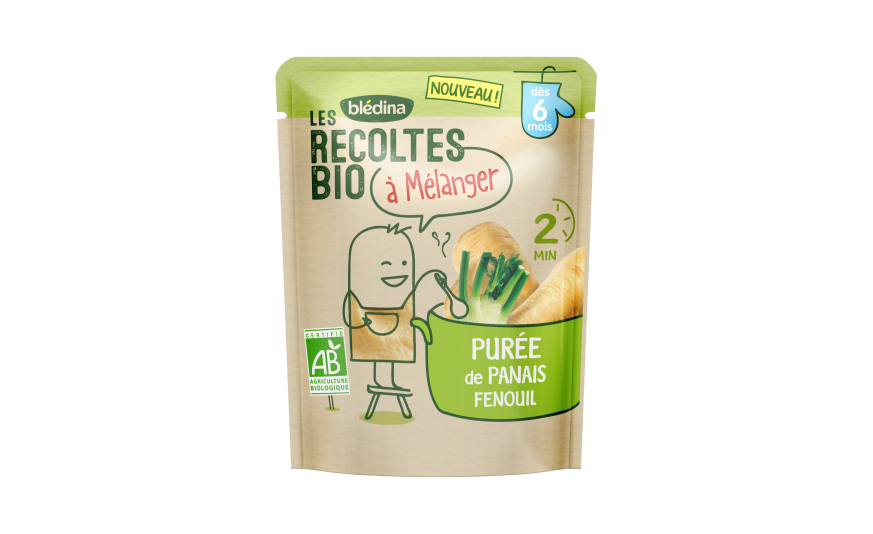 1 sachet Les Récoltes Bio à mélanger Purée de Panais Fenouil