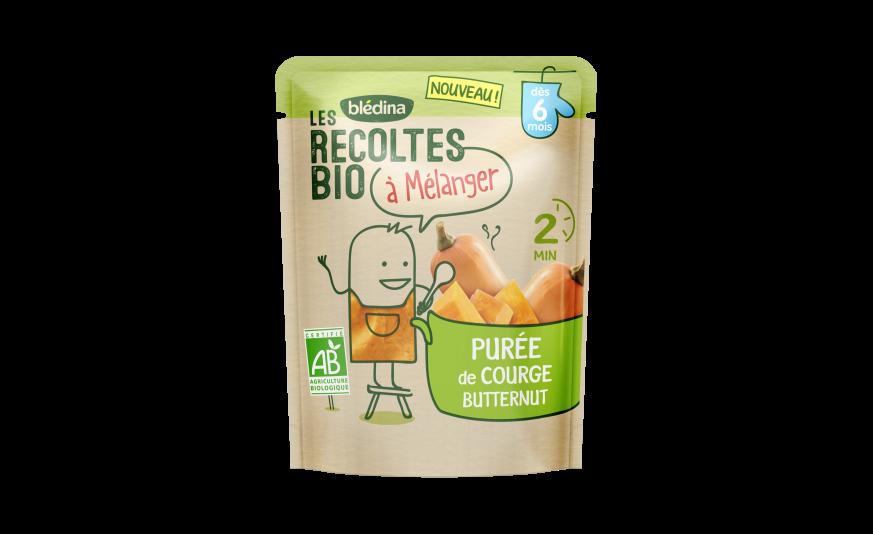 1 sachet Les Récoltes Bio à mélanger Purée de courge butternut