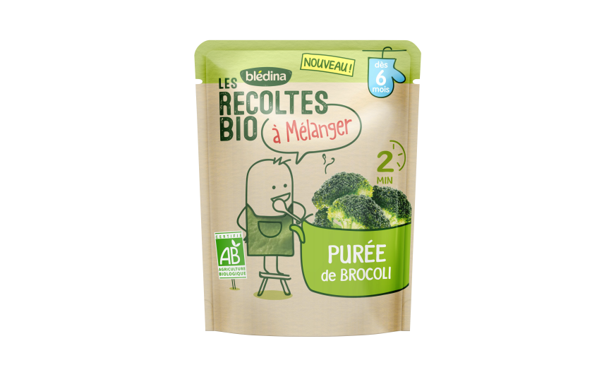 1 sachet Les Récoltes Bio à mélanger Purée de Brocoli
