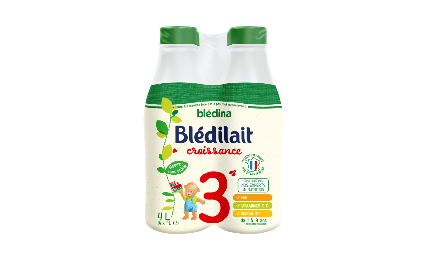 90 ml Blédilait Croissance 1L x 4